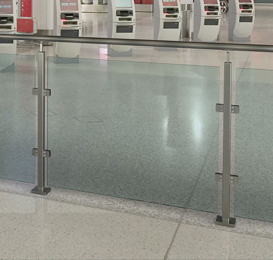 Square Stainless Steel Handrail Components