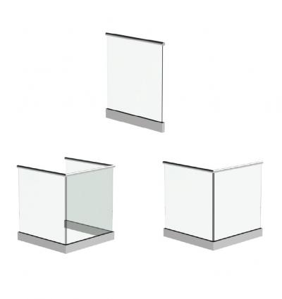 Frameless Glass Balustrade Configuration Render